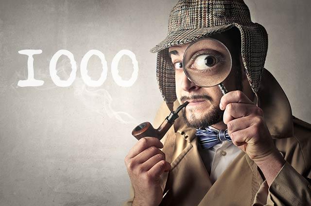 Detektiv sucht 1000