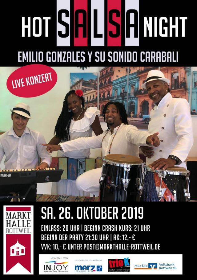 Salsa live mit Emilio Gonzales y su Sonido Carabali