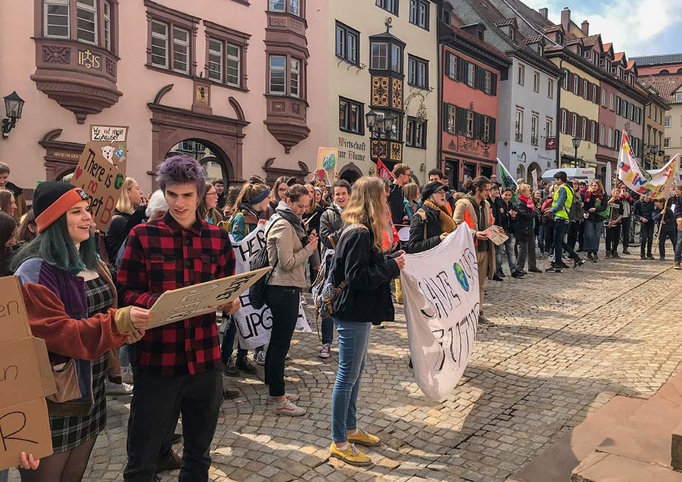 Fridays for Future in Rottweiler Innenstadt