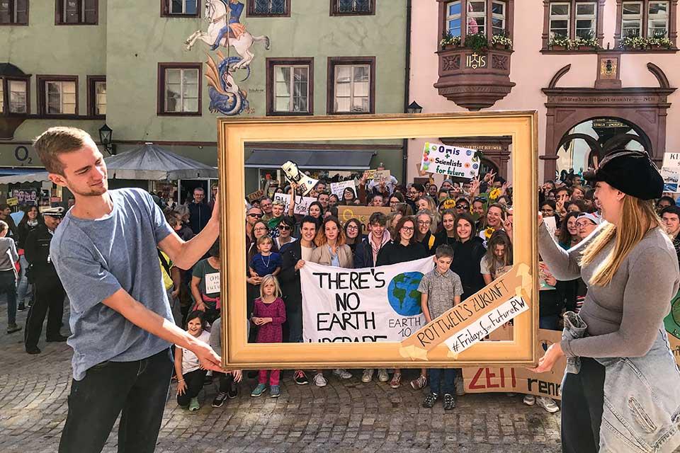 Mehr als 1 Million in Deutschland für klimafreundliche Politik auf der Straße - auch Rottweil bewegt