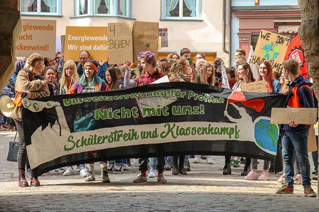 Rottweiler Schüler wieder für Klimaschutz auf der Straße