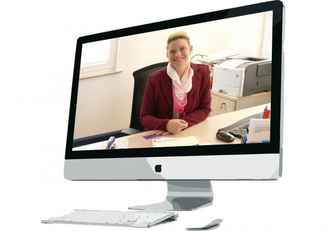 Bürgermeisterin Carmen Merz in der Online-Sprechstunde
