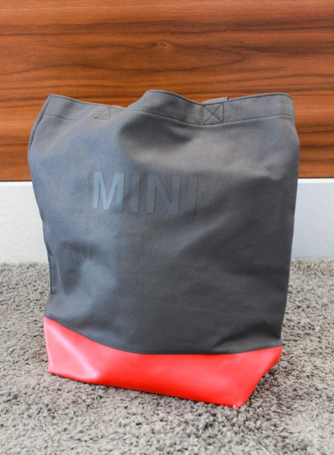 MINI Shopper Colour Block | Grau/Coral